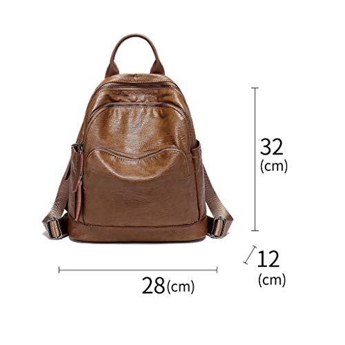 Soft Fashion Retro Wild Female Backpack Leather Handbag Large Capacity x8C8qawTI