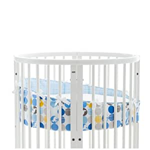 stokke sleepi mini bumper silhouette blue crib bumpers baby. Black Bedroom Furniture Sets. Home Design Ideas