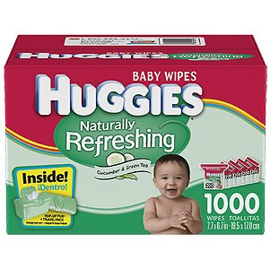 Huggies Naturally Refreshing Wipes Refill Box 1008