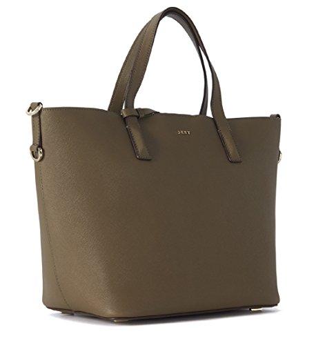 Shopper DKNY Bryant Park en peau saffiano verte