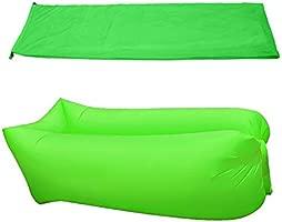 Tumbona sofá inflable con bolsa playa tumbona hinchable Air sofá sofá cama piscina flotador para uso en interiores/al aire libre senderismo camping, ...