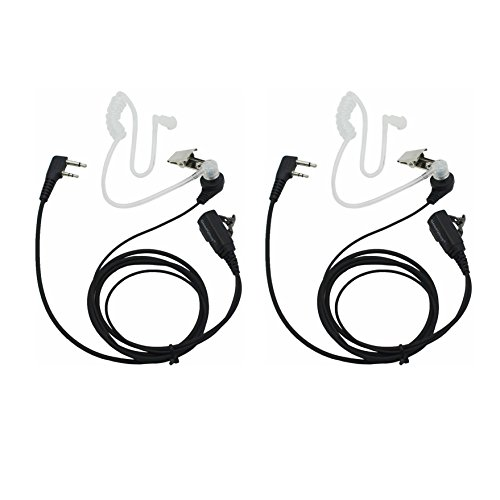 GoodQbuy 2 Pin PTT Mic Covert Acoustic Tube Earpiece Headset for Icom Radio IC-F24S IC-F31 IC-F3 IC-F3S IC-F4 (Pack of (Covert Acoustic Tube Earpiece)