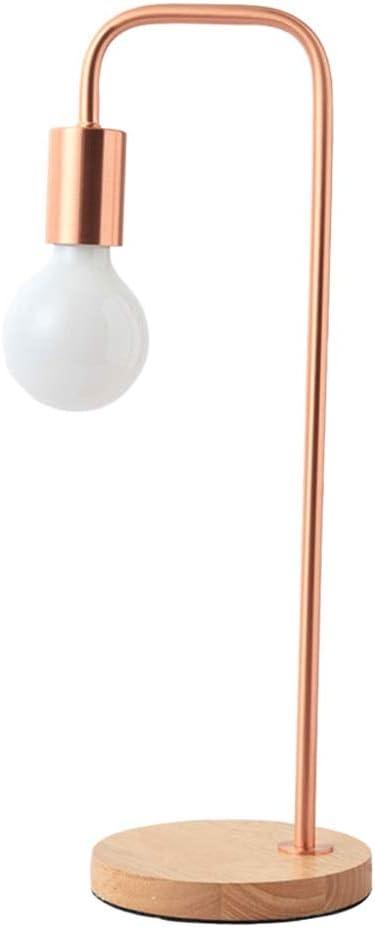 Lámpara de Mesa Industrial - Lámpara de Escritorio de Madera ...