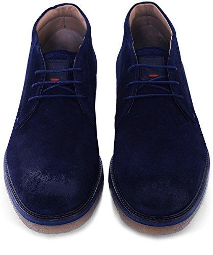 Boss Mens Suede Tuned_desb_sd2 Desert Boots Blu Scuro Blu Scuro