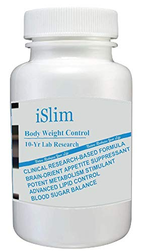 iSlim - #1 Organic Herbal Weight Loss, Slim Pills - Appetite Suppressant & Fat Burner - Increase Energy & Boost Metabolism - Blood Sugar Support - 10-Year Clinical Research - Dietary Supplement