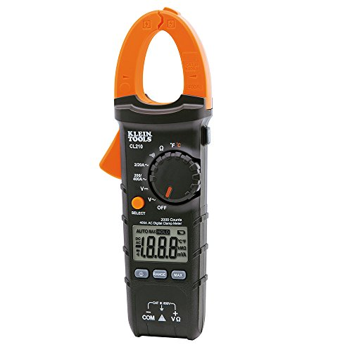Klein Tools CL210 Digital Clamp Meter, AC Auto-Ranging, 400A