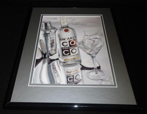 Coco Rum (2004 Bacardi Coco Coconut Rum Framed 11x14 ORIGINAL Vintage Advertisement)