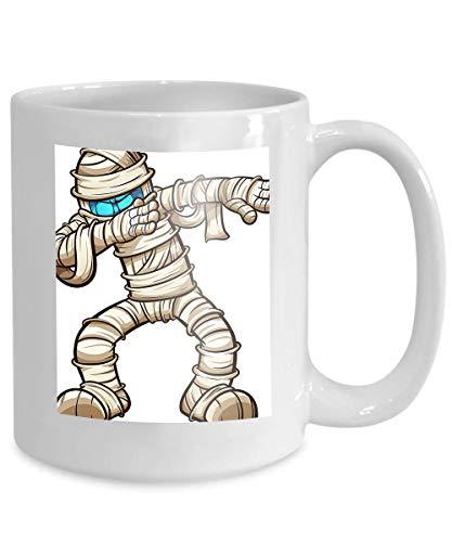 (mug coffee tea cup dabbing cartoon mummy simple gradients all single layer halloween dabbing cartoon mummy Modern)