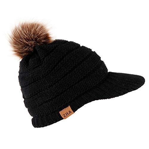 Putars Knit Cap,Adult Women Men Winter Crochet Hat Warm Solid Color Toque Warm Baseball Cap ()