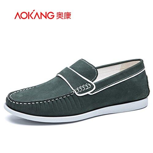 Aemember scarpe da uomo uomini a testa circolare di impostare i vostri piedi con il Day-To-giorno casual leggero e scarpe comode ,41, Verde