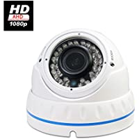"Evertech 1/2.9"" Sony 2.4MP CMOS Sensor 1080P Hybrid AHD CVBS TVI CVI Vandal Proof 36IR LED 2.8-12mm Varifocal Lens White Dome Camera for Security Surveillance"