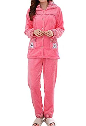Nanxson(TM Womens Winter Thick Warm Coral Fleece Pajamas Set with Pant SYW0053 (S