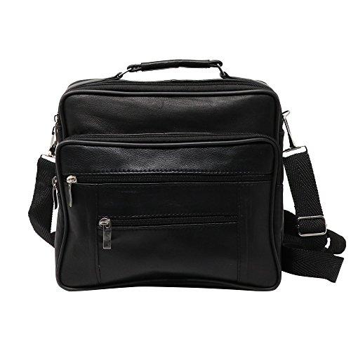 Large Horizontal Messenger - Victory Furrier Horizontal Cross Body Shoulder Bag Genuine Leather Messenger Handbag (Large)