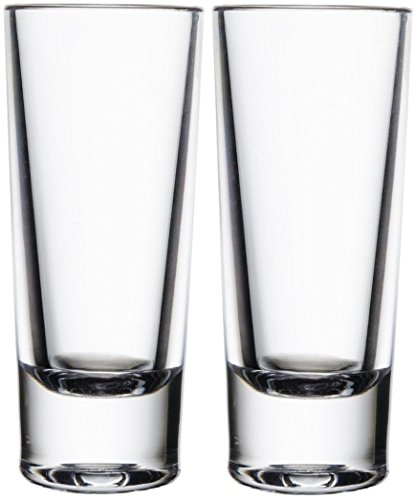 Circleware 42707 Tall Shot Glasses (Set Of 6), Blue Velvet, 2.25 oz - Tall Shot Glass Set
