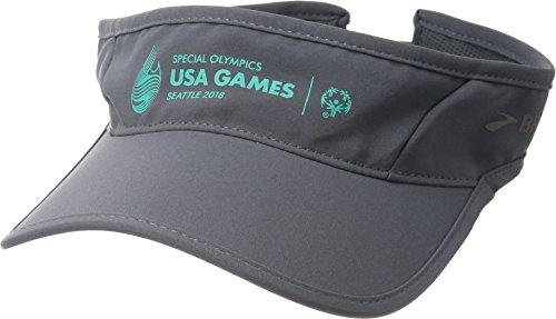 Game Day Visor (Brooks Unisex USA Games Sherpa Visor Asphalt One Size)