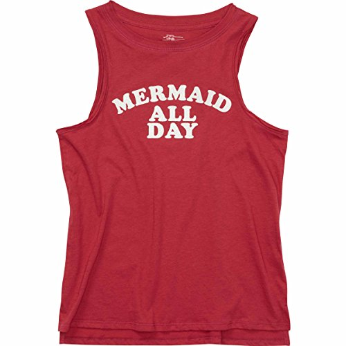 Billabong Girls Tank Top (Billabong Girls' Girls' Mermaid All Day Tank Raspberry Large)