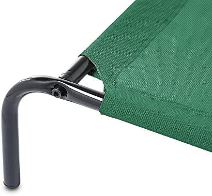 Amazon Basics - Lit surélevé rafraîchissant pour animaux, grand (130,3 x 80 x 19,3 cm), vert