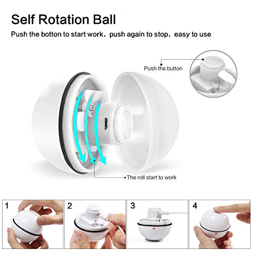 Cat Toys Ball Best Interactive Cat Toys Automatic Self-Rotating and USB Rechargeable LED Light Electronic Cat Toy Balls for Indoor Cats Exercise Toys (Newest Version) 4