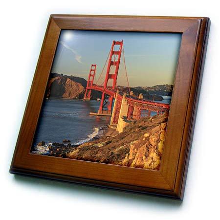 3dRose Danita Delimont - San Francisco - View of Golden Gate Bridge, San Francisco, California, USA - 8x8 Framed Tile (ft_314724_1) ()