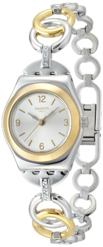 Swatch Silver Dial Two Tone Stainless Steel Quartz Woman's Watch YSS286G