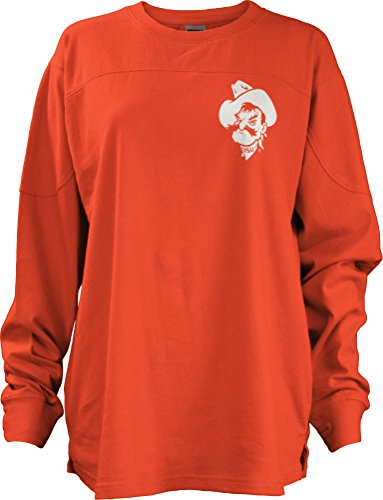 Three Square by Royce Apparel NCAA Oklahoma State Cowboys Junior's Gridiron Big Shirt, Large, Orange (Oklahoma State Square)