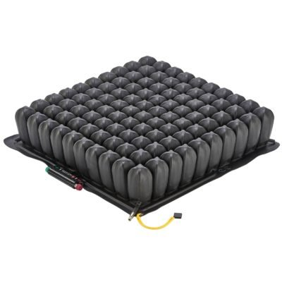 Roho High Profile Quadtro Select Wheelchair Cushion - 18 x 16 - Adjustable Pressure Relief Air Seat - Conforms to Your Body Shape and Weight - Includes Pump, Cover, Repair Kit, Instructions