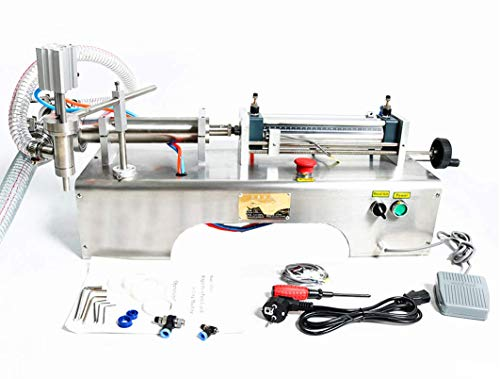 KUNHEWUHUA Pneumatic Liquid Water Oil Filling Machine 1000-5000ml Single Nozzle 110V/220V by KUNHEWUHUA (Image #1)