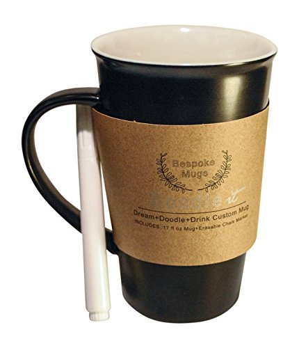 Bespoke Mugs – Write On Chalk Pen Marker Doodle Art Gratitude Mug, THE Ideal Gift