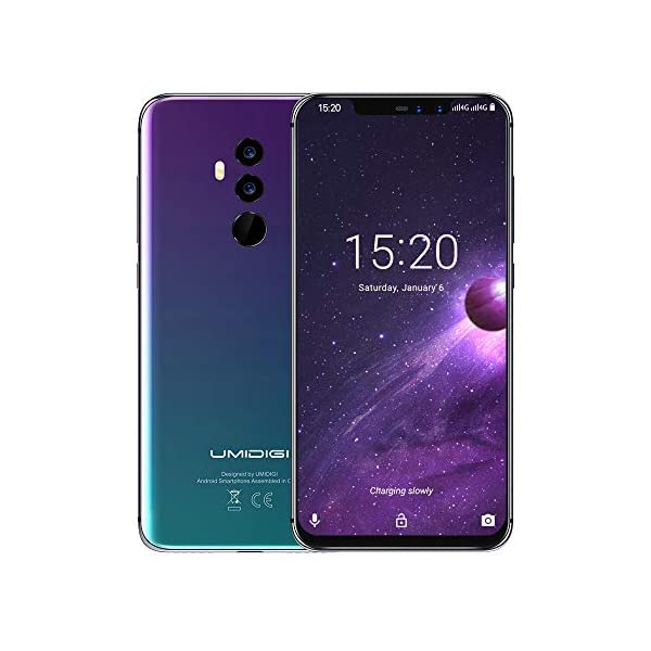 "41TdaJ3IdRL. SS600 - UMIDIGI Z2 6.2"" FullView Display(19:9 Ratio)- 64GB ROM+6GB RAM Unlocked Cell Phone - Dual Sim 4G Volte Unlocked Smartphone -16MP+8MP Dual Camera - 3850mAh Battery -Android 8.1 Cellphone (Twilight)"