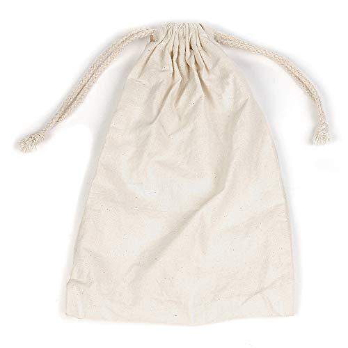 Felt Ball Cotton Bag Bundle Bag Cotton Reusable Portable Accommodate Hold 4 Dry Felt Balls for Wool Dryer Balls White]()