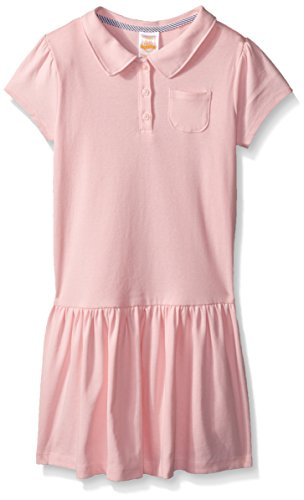 Gymboree Little Girls' School Uniform Polo Dress, Pink Cadillac, 10 (Uniform Dress School)