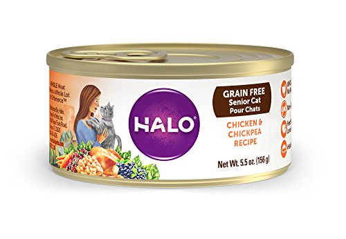 Halo Grain Free Natural Wet Cat Food, Senior Chicken & Chick