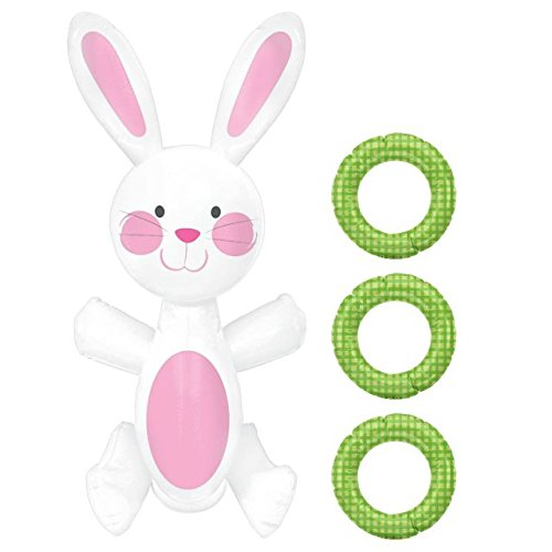 Amscan 279862 Easter Bunny Inflatable Ring Toss Game