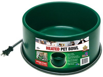 Farm Innovators Dog Bowl - Farm Innovators P-60 1-1/2 Gallon Green Round Heated Pet Bowl