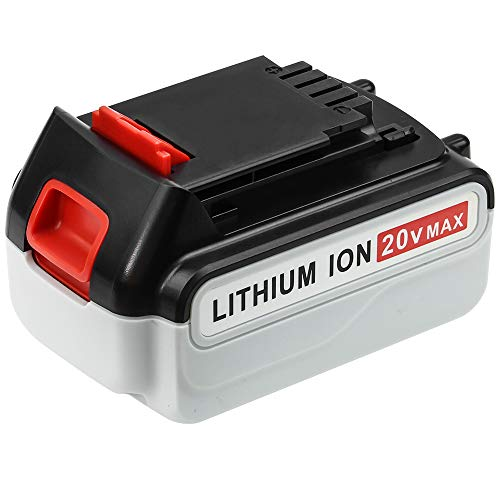 [Upgraded 4000mAh] LBXR20 20 Volt Max Battery Replacement for Black and Decker 20V Lithium Battery LB20 LBX20 LBXR2020 LBX4020 LB2X4020-OPE LBXR20-OPE Cordless Power Tools