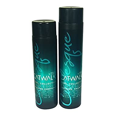 TIGI Catwalk Curl Collection Curlesque Defining Shampoo, 10.1 Ounces + Hydrating Conditioner, 8.45 Ounces