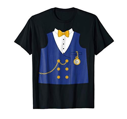 Banker Vest with Tie Pocket Watch Halloween Costume T Shirt -
