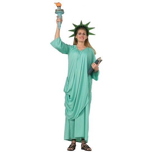 Rubie's Patriotic Collection Adult Statue Of Liberty, Green, One Size Costume]()