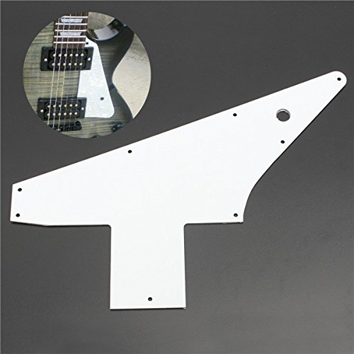 BangBang 3 Ply White 76 Reissue Style For Gibson Explorer Guitar Pickguard Pick Guard (Explorer Style Electric Guitar)