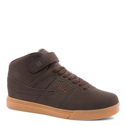 Fila Men's Vulc 13 Leather, Synthetic Fashion Sneakers,10.5 D(M) US,Espresso, Gum