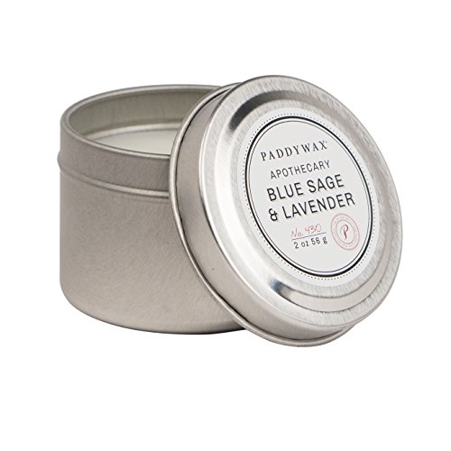 PaddyWax Travel Tin Apothecary Collection Candle, Blue Sa...