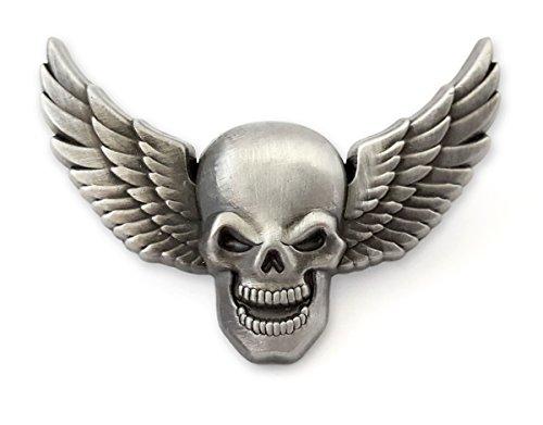 Pinsanity 3D Winged Skull Lapel Pin