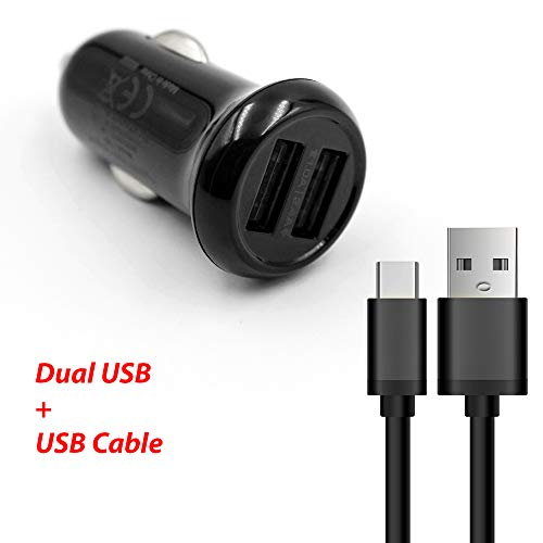 For LG Tone HBS-700 / Tone+ HBS-730 / Tone Pro HBS-750 / Tone Pro HBS-760 / Tone Ultra HBS-800 Bluetooth Headset Compact Vehicle Power Car Charger Adapter + USB Data Charging Cable Bluetooth Headset Car Charger Adapter