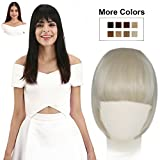 white hair clips - REECHO Fashion Full Length Synthetic One Piece Layered Clip in Hair Bangs / Fringe / Hair Extensions Color - White Blonde