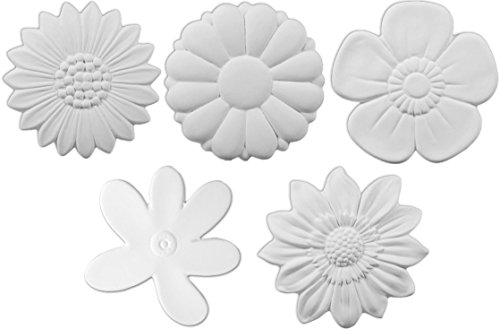 Bisque Collection - The Garden Flower Collection - Set of 5 - Paint Your Own Floral Ceramic Keepsake Garden
