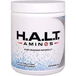 H.A.L.T Aminos - Contains Eight Amino Acids Plus Vitamins and Minerals - Nutritional Drink Supplement - Watermelon - Stop Addictive Cravings for Sugar, Alcohol, Substances - 30 Servings