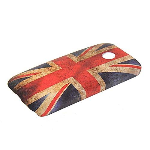 Motorola Moto E Case,COOLKE [15] Beautiful UK British Flag Pattern Rubber Coating Armor Hard Case Cover For Motorola Moto E