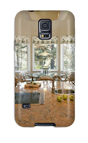 Premium [euQiydn7567ZvQii]marble Copper Centered Island Kitchen With Autumn Accents Case For Galaxy S5- Eco-friendly Packaging