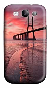 Samsung Galaxy S3 Case Cover - Sunset Bridge 3D PC Hard Back Cover for Samsung Galaxy S III / Samsung S3/ Samsung i9300