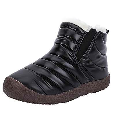 Amazon.com | Zefani Kids Waterproof Snow Boots Winter Anti